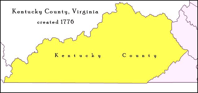 Kentucky County Virginia 1776