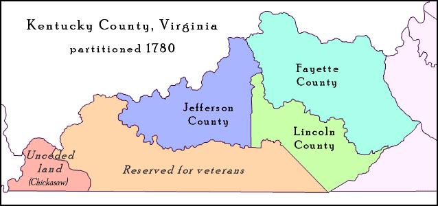 Kentucky County Virginia 1780