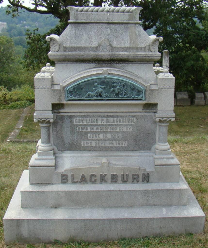 May 27 Luke P. Blackburns gravestone